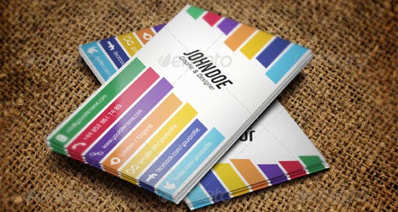 Creative Colorful Business Card 01