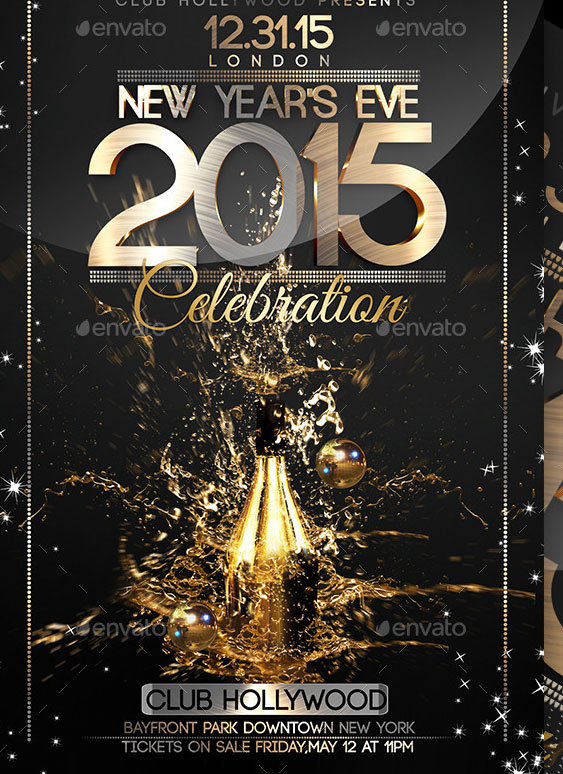2015 new year poster psd templates  u2013 design freebies