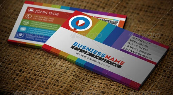 Multiple Colors Business Card