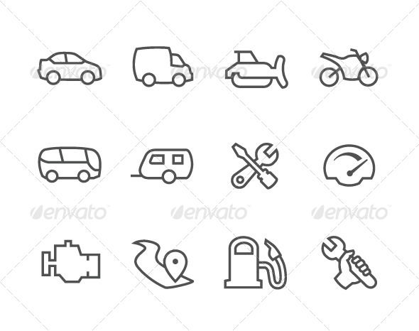 Outline Auto Icons