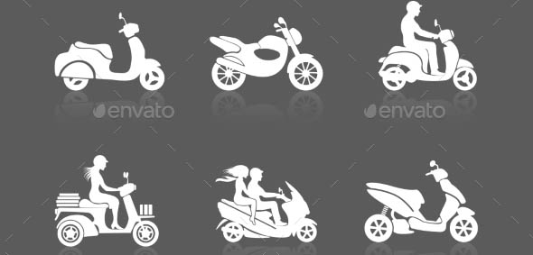 Scooter Icons Set