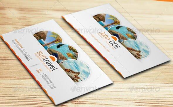 22 creative indesign business card templates design freebies travel tours business card template wajeb Choice Image
