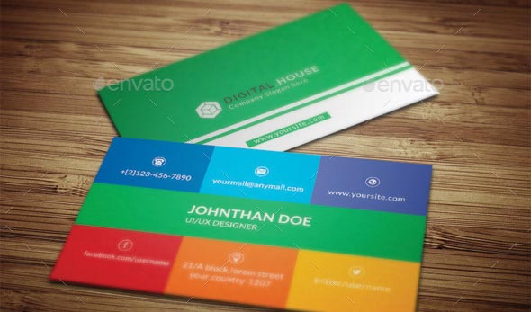 nice Colorful Business Card