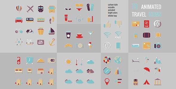 79 Travel icons