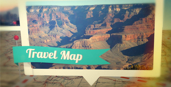 After Effects Travel Map