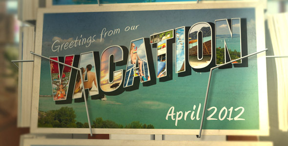 After effects Postcard Vacation