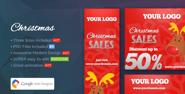 Christmas Banners Web Banner Template