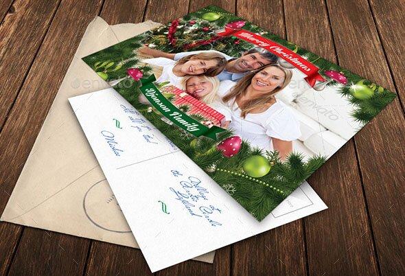 Christmas Holidays Postcard
