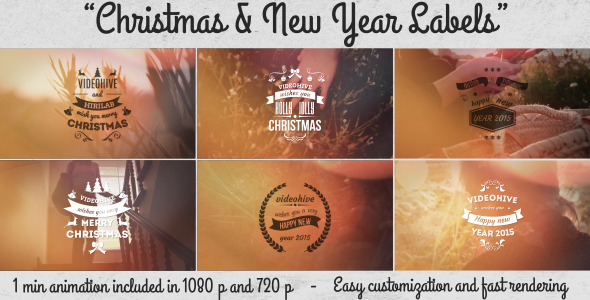 Christmas  New Year Labels