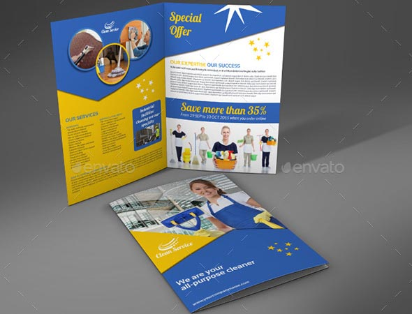Cleaning Services Company Bi-Fold Brochure