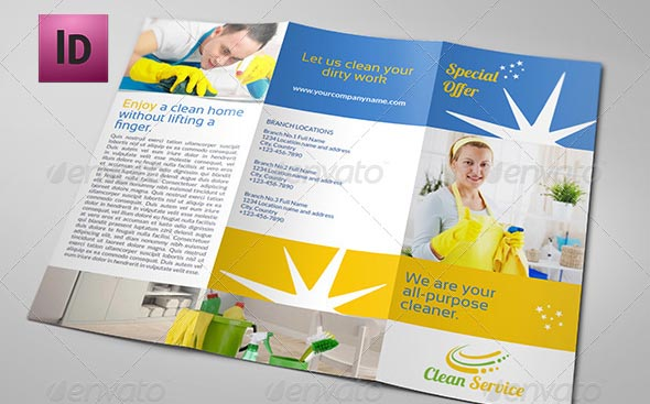 cleaning service brochure templates - 9 nice cleaning service flyer brochure templates