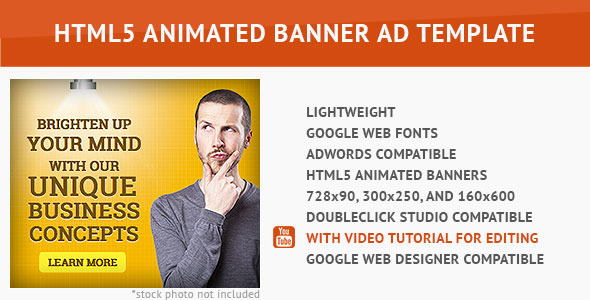Corporate Ad HTML5 Animated Banner