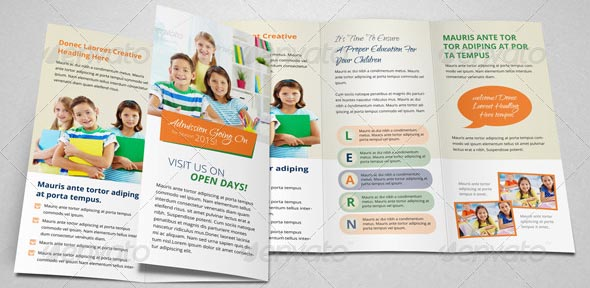 Great School Brochure Templates Design Freebies - Tri fold school brochure template