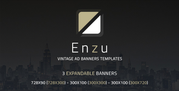 Enzu Vintage Ad Banners Templates