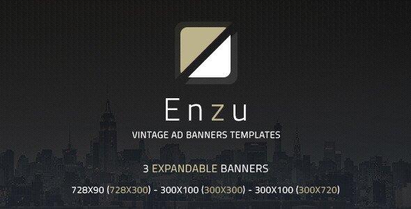 Enzu Vintage Ad Banners Templates