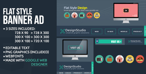 Flat Style Banner Ad Template
