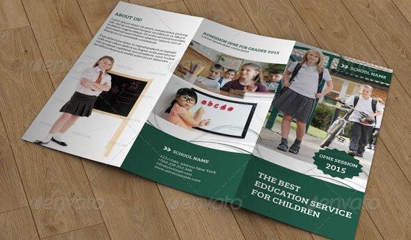 Kids School Trifold Brochure V05