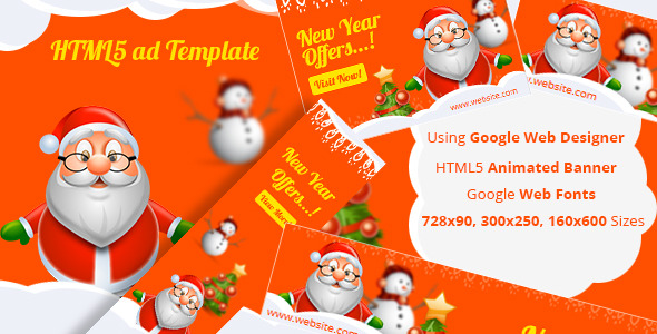 NewYear HTML5 ad template