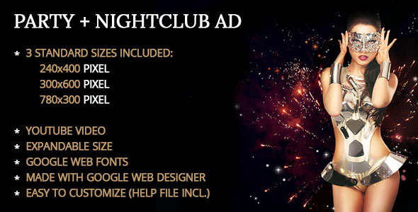 Party Nightclub Ad Template