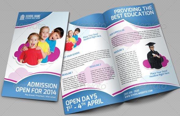 School Promotion Bi-Fold Brochure Vol 1