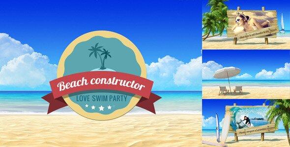 Summer Beach Video Displays