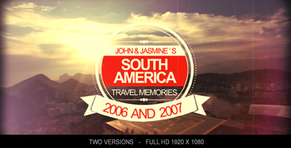 Travel Memories 2 After Effects