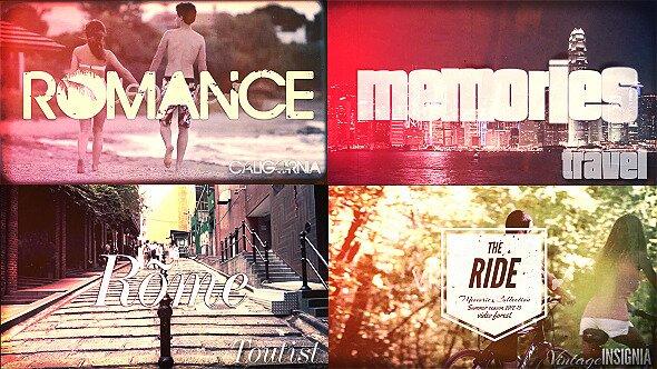 Travel Memories Typography Slideshow