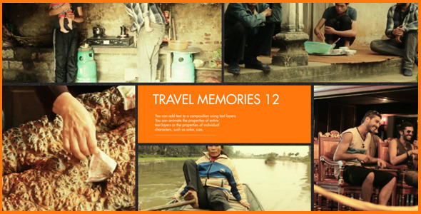 Travel Memories after effects