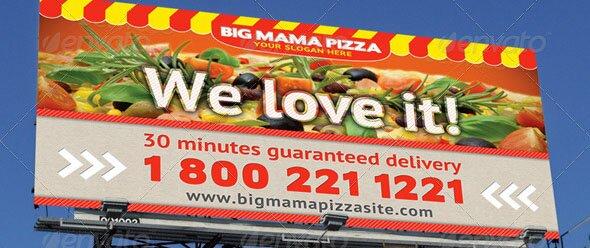 Big Mama Pizza Outdoor banner 22