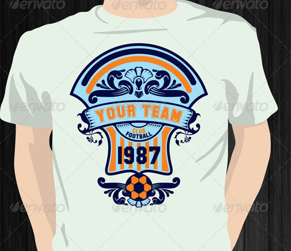 custom graphic t shirt printing with soccer team shirt design