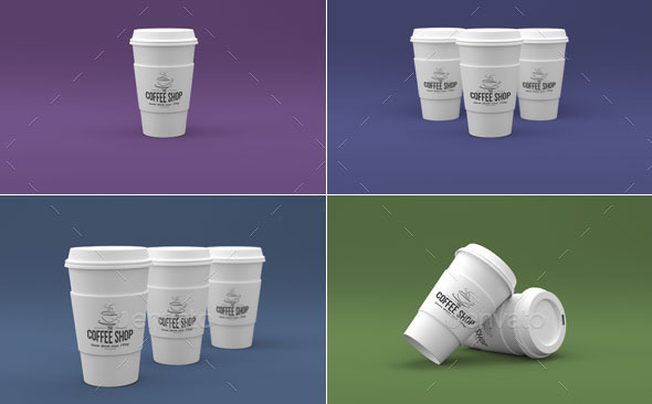 Coffee Cup Branding Mock-Ups