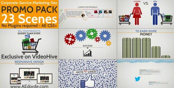 Corporate Service Marketing Seo Promo Pack