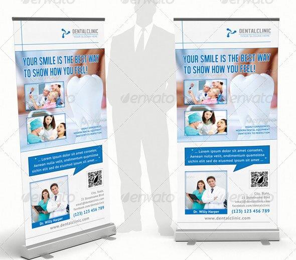 Dental Clinic Rollup Banner 20
