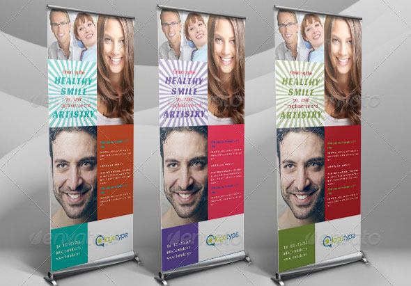 Dental Clinic Rollup Banner Template