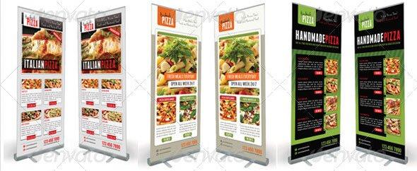 Food And Pizza Menu Banner Bundle