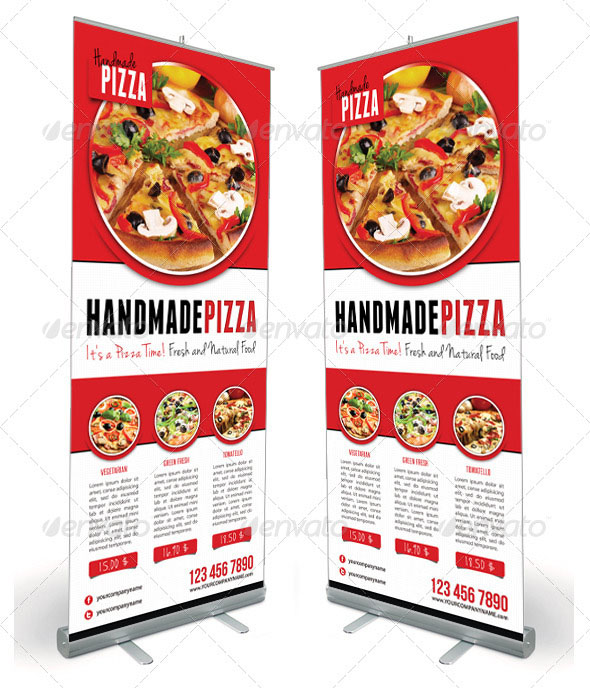 Food And Pizza Menu Banner Template 01