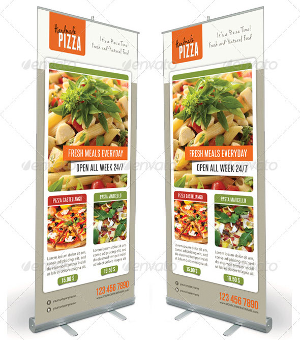 Food And Pizza Menu Banner Template 05