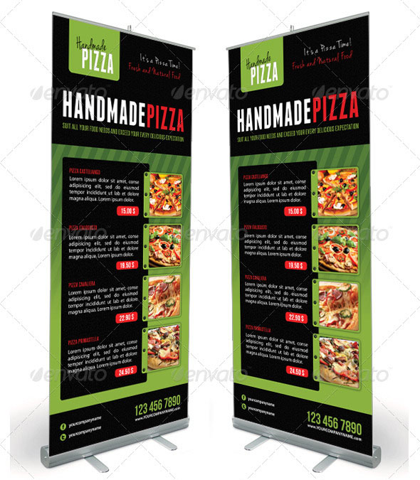 Food And Pizza Menu Banner Template 06