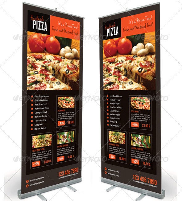 Food And Pizza Menu Banner Template 07