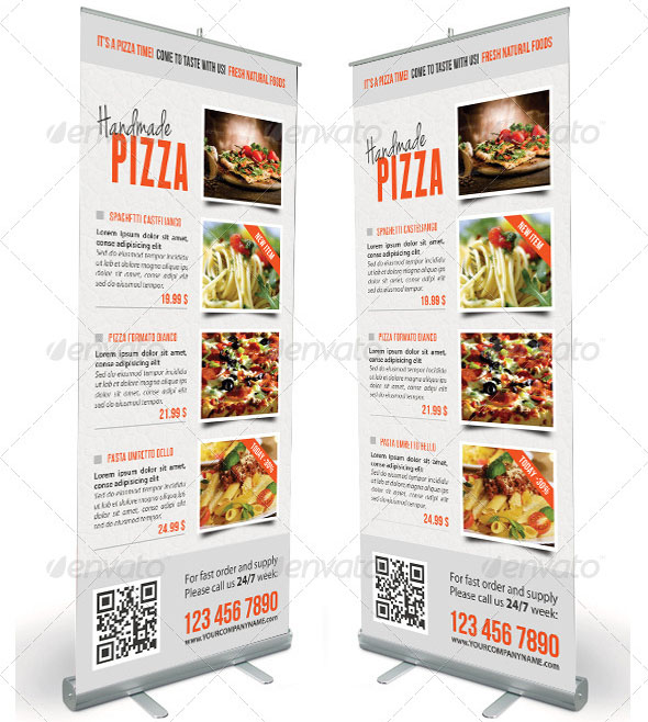 Food And Pizza Menu Banner Template 09