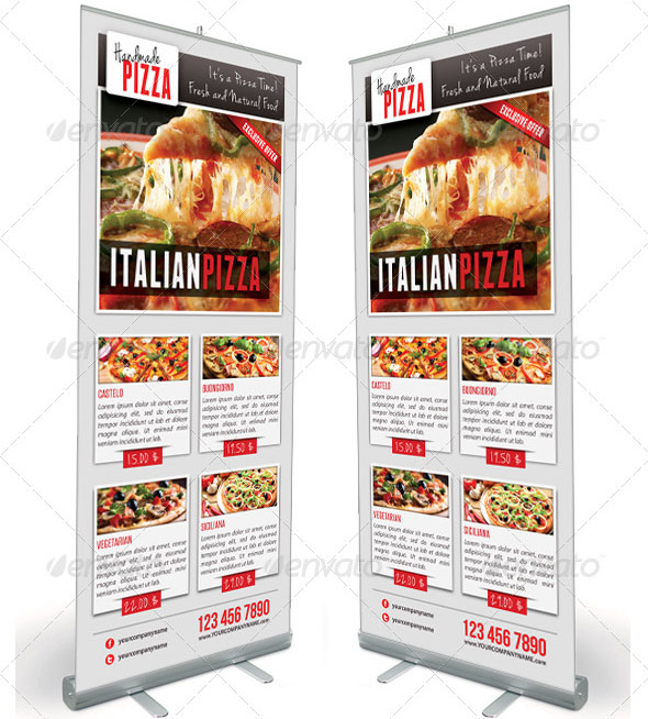 Food And Pizza Menu Banner Template