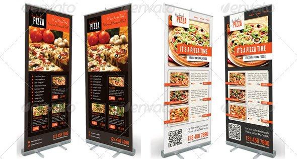 Food And Pizza Menu Banner