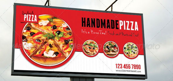 Food And Pizza Outdoor Banner 01