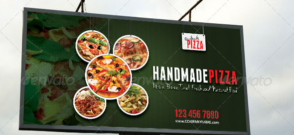 Food And Pizza Outdoor Banner 03