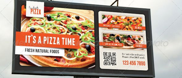 Food And Pizza Outdoor Banner 04