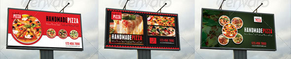 Food And Pizza Outdoor Banner Bundle