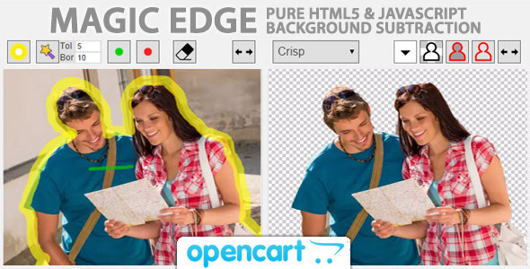 Magic Edge Image Background Remover for OpenCart