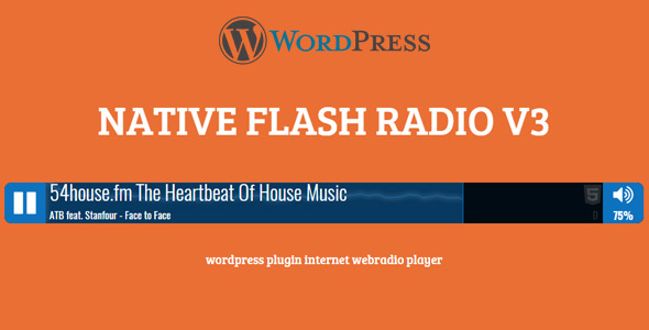 Native Flash Radio WP Plugin