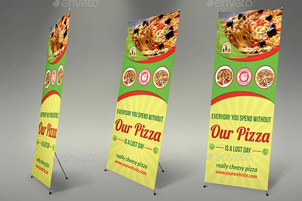 Pizza Restaurant Signage Banner Template