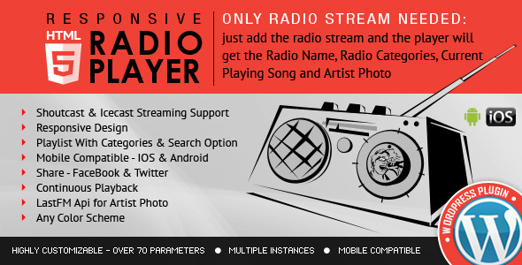 Radio Player Shoutcast